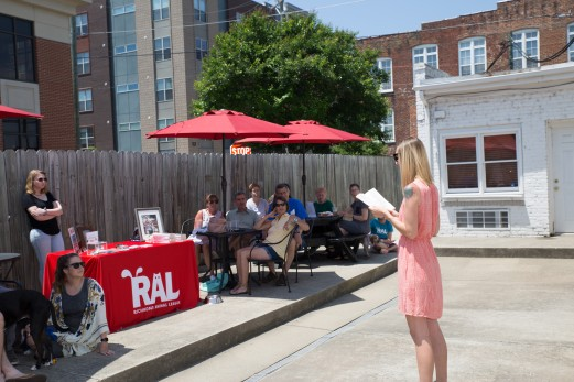 I read Jack's story to a crowd of dogs and people at Cafe Zata on May 18 at an event to benefit RAL.